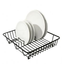 Delfinware Wireware Black Popular Dish Sink Kitchen Drainer Drying Rack Strainer